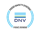 Food Safety Certified by DNV - GL - FSSC 2200